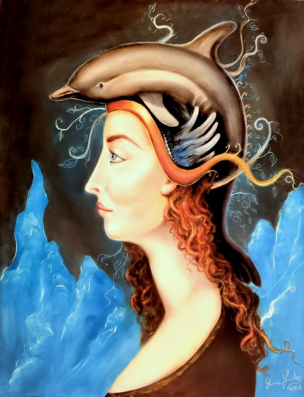 Lady with Dolphin Hat