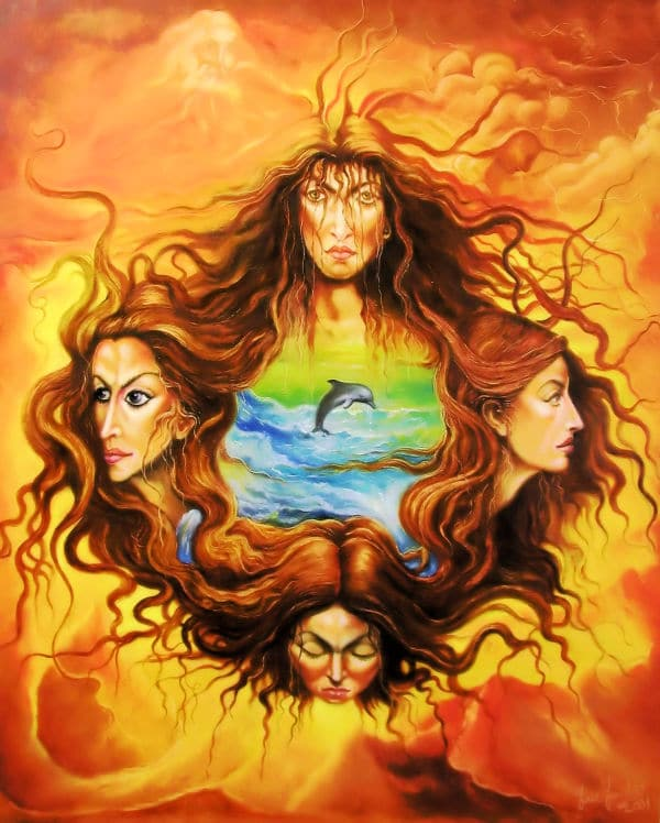 Four Ladies and the Sea
