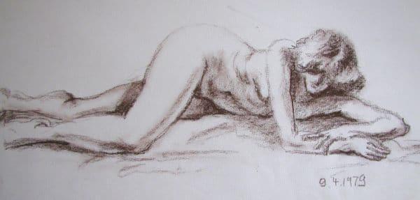 Lying Nude Figure