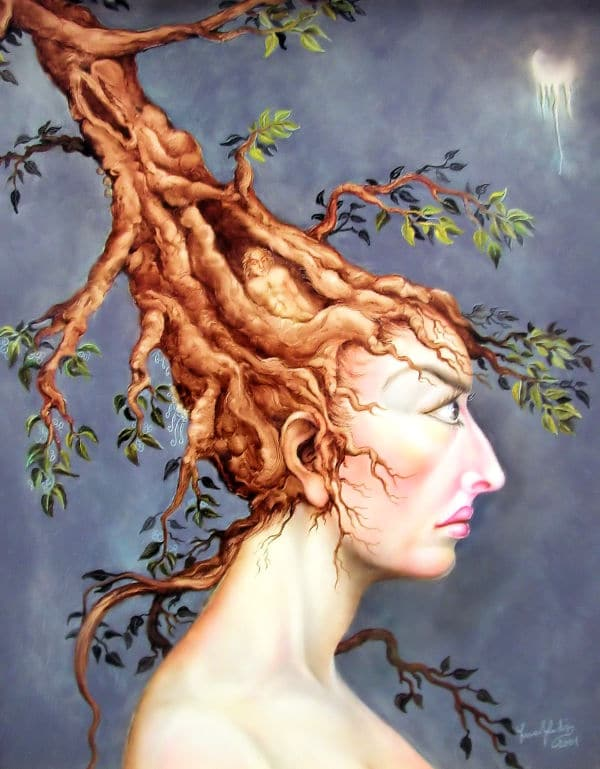 Tree Hair Woman